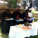 Lunch with Bishop Kakooza