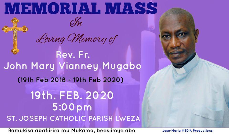 Memorial service for Rev Fr John Mary Vianney Mugabo